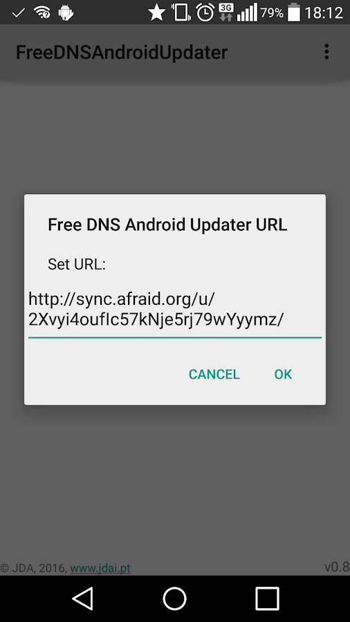 Free DNS Android Updater- screenshot