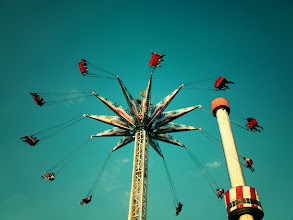Photo: Amusement park swing ride. Coney Island.   Brooklyn, New York City.  View the writing that accompanies this post here at this link on Google Plus:  https://plus.google.com/108527329601014444443/posts/ZLFJ6JMw5Rx  View more New York City photography by Vivienne Gucwa here:  http://nythroughthelens.com/