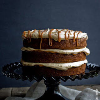 Banana Chocolate Chunk Cake with Dulce de Leche Cream Cheese Frosting