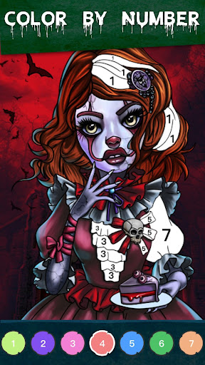 Zombie Coloring - Color by Numbers & Art Books screenshots apkshin 1