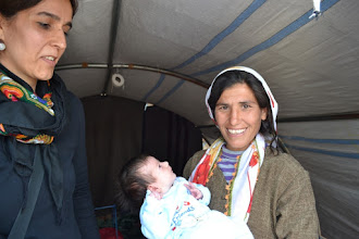 Photo: A newborn child in the camp for Kurdish Internally Displaced People's in Suruç