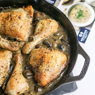 Easy Chicken Mushroom Casserole.