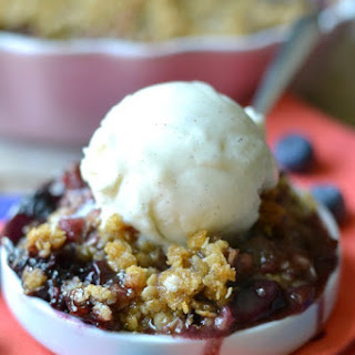 Blueberry Rhubarb Crisp Recipe