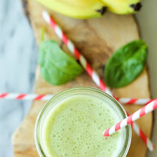 Green Smoothie with Peanut Butter and Banana.