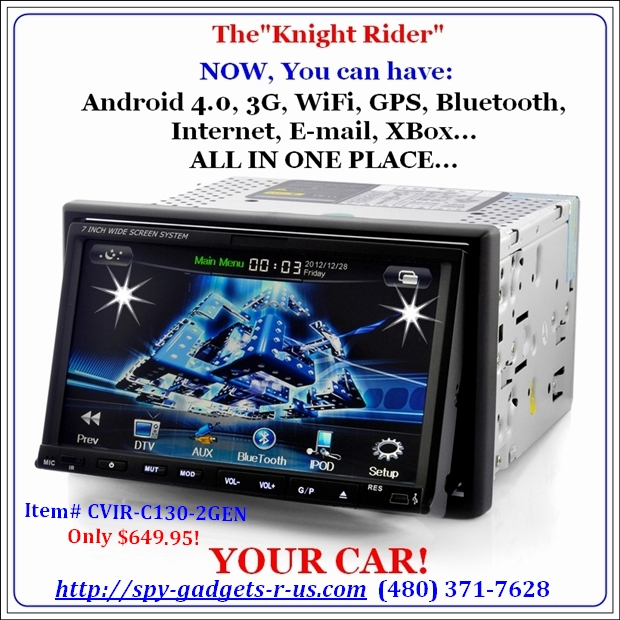 """A picture of the 4.0 WiFi DVD player called Knight Rider."""
