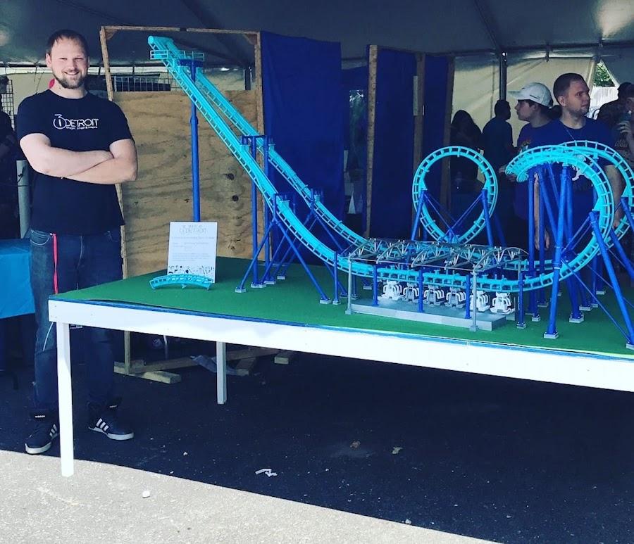 Matt with his amazing 3D printed Invertigo model