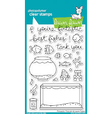 Lawn Fawn Clear Stamps 4X6 - Fintastic Friends