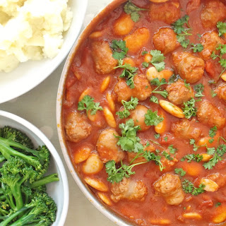 Sausage, Red Wine and Butter Bean Casserole