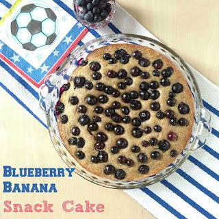 Blueberry Banana Snack Cake