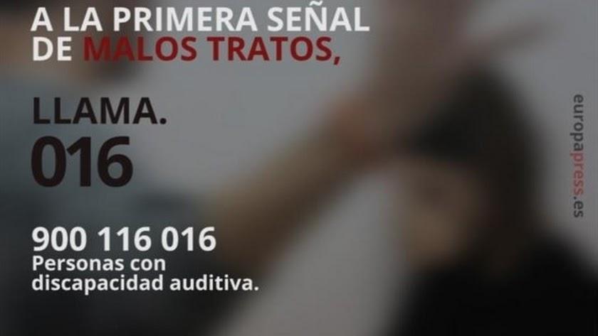 Línea telefónica para la denuncia de malos tratos.