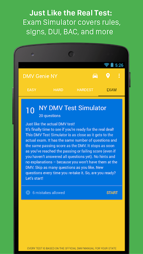 DMV Genie Permit Practice Test: Car & CDL Screenshot