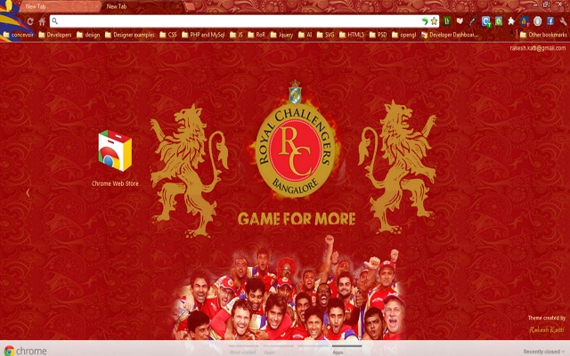 RCB Chrome theme