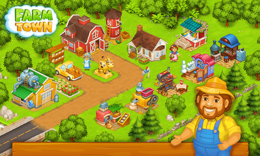 Farm Town: Happy farming Day & with farm game City  gameplay | by HackJr.Pw 6