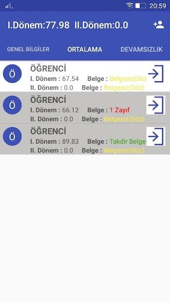 E-Okul Android App Screenshot