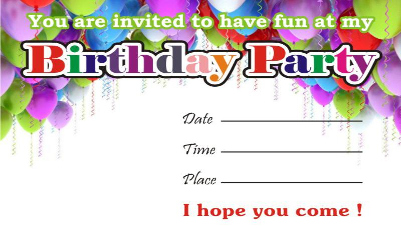 Birthday Invitation Cards Android Apps On Google Play - Happy birthday invitation card design