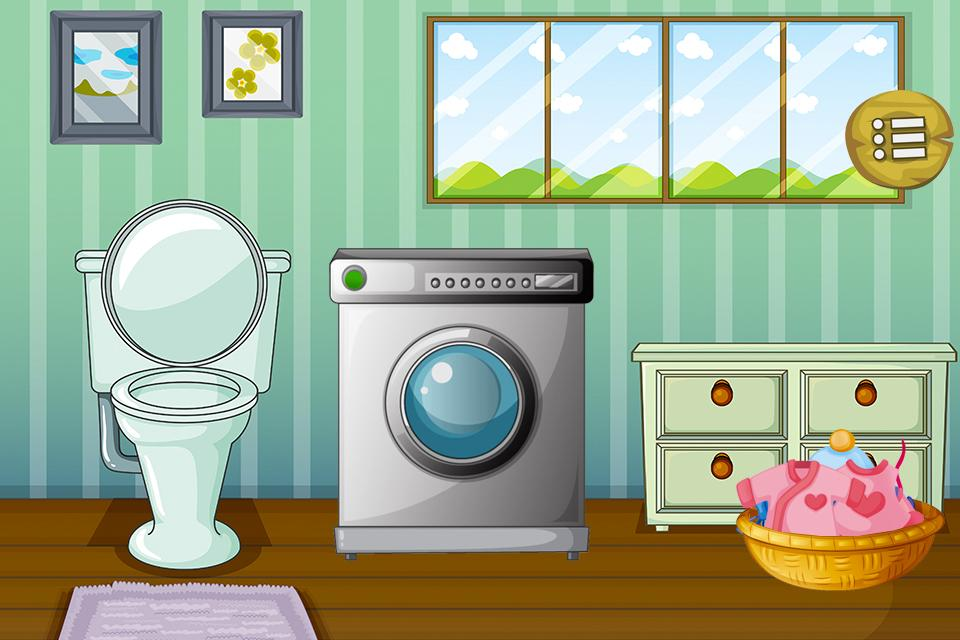 cleanup baby bedroom games screenshot - Baby Room Cleaning Games