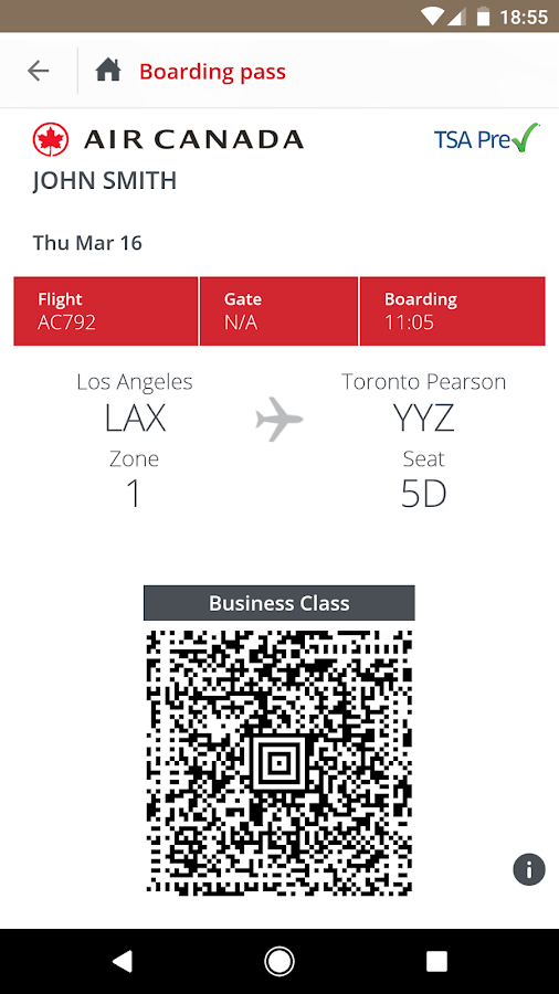 Air Canada- screenshot