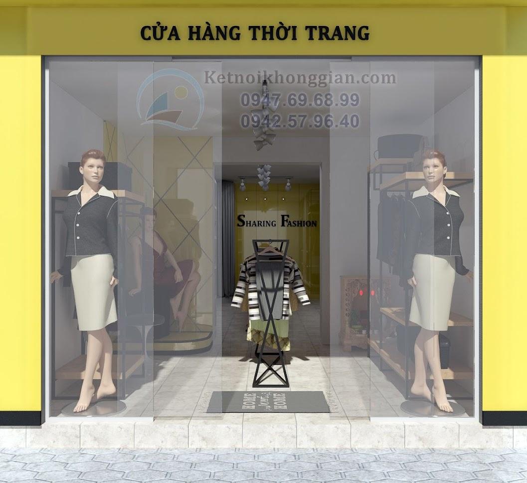 thiết kế shop quần áo cho thuê