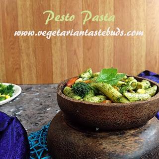 Pesto Pasta Recipe with Homemade Basil Pesto Sauce.