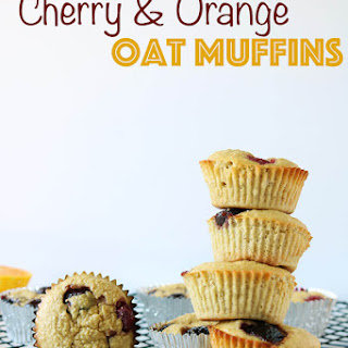 Cherry Orange Oat Muffins