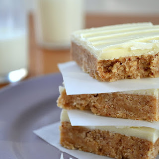 White Chocolate Almond Butter Squares