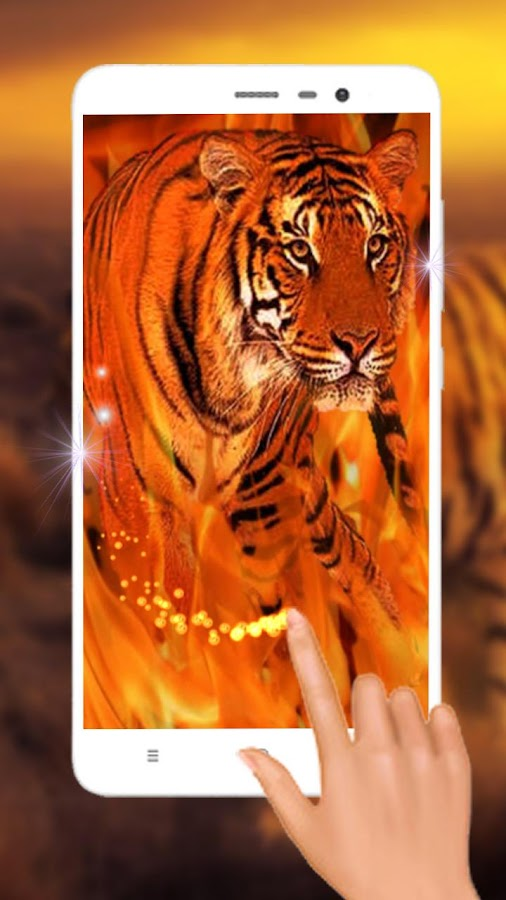 Fire Tiger Live Wallpaper- screenshot