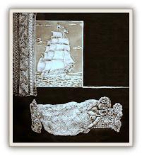 Photo: Antonio Berni El sueño 1967 ca. Xilo-collage-relieve. Matriz xilográfica: 45 x 39,5 cm. Estampa: 55 x 50 cm. Colección particular, Buenos Aires. Expo: Antonio Berni. Juanito y Ramona (MALBA 2014-2015)