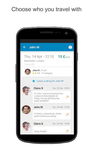 BlaBlaCar, Trusted Carpooling App (APK) scaricare gratis per Android/PC/Windows screenshot