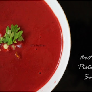 Beetroot Pistachio Soup