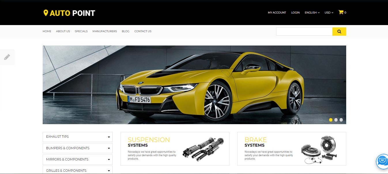 Auto Parts - Opencart ecommerce themes