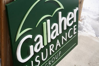 Photo: Gallaher Insurance Group Tempe AZ Arizona, more carved signs at www.nicecarvings.com