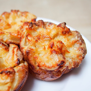 Apple and cheddar Yorkshire pudding.