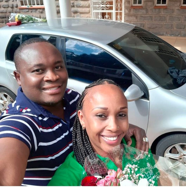 Moses Kanene with his new catch Grace Nungari