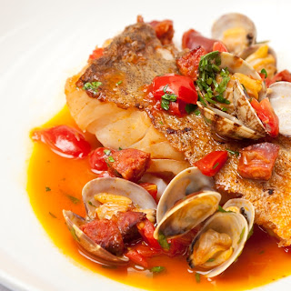 Cod with Clams and Chorizo Recipe