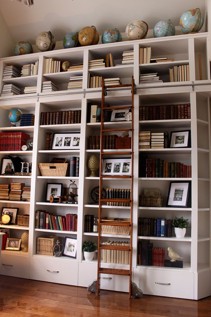 Decorate a library at home