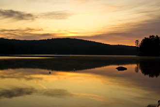 Photo: Sunrise over Lovell Lake, Wakefield, New Hampshire, same day believe it or not.