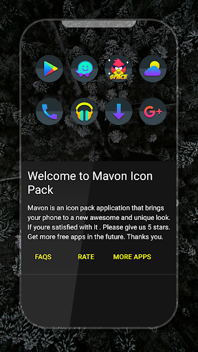 Mavon - Icon Pack app for Android screenshot