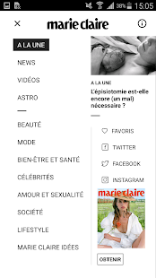 Marie Claire Screenshot