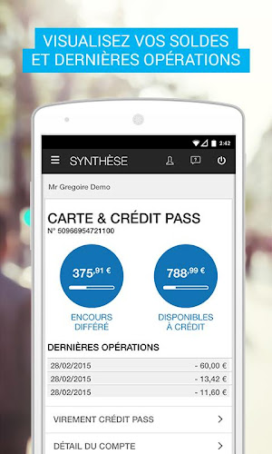 Carrefour Banque Android App Screenshot