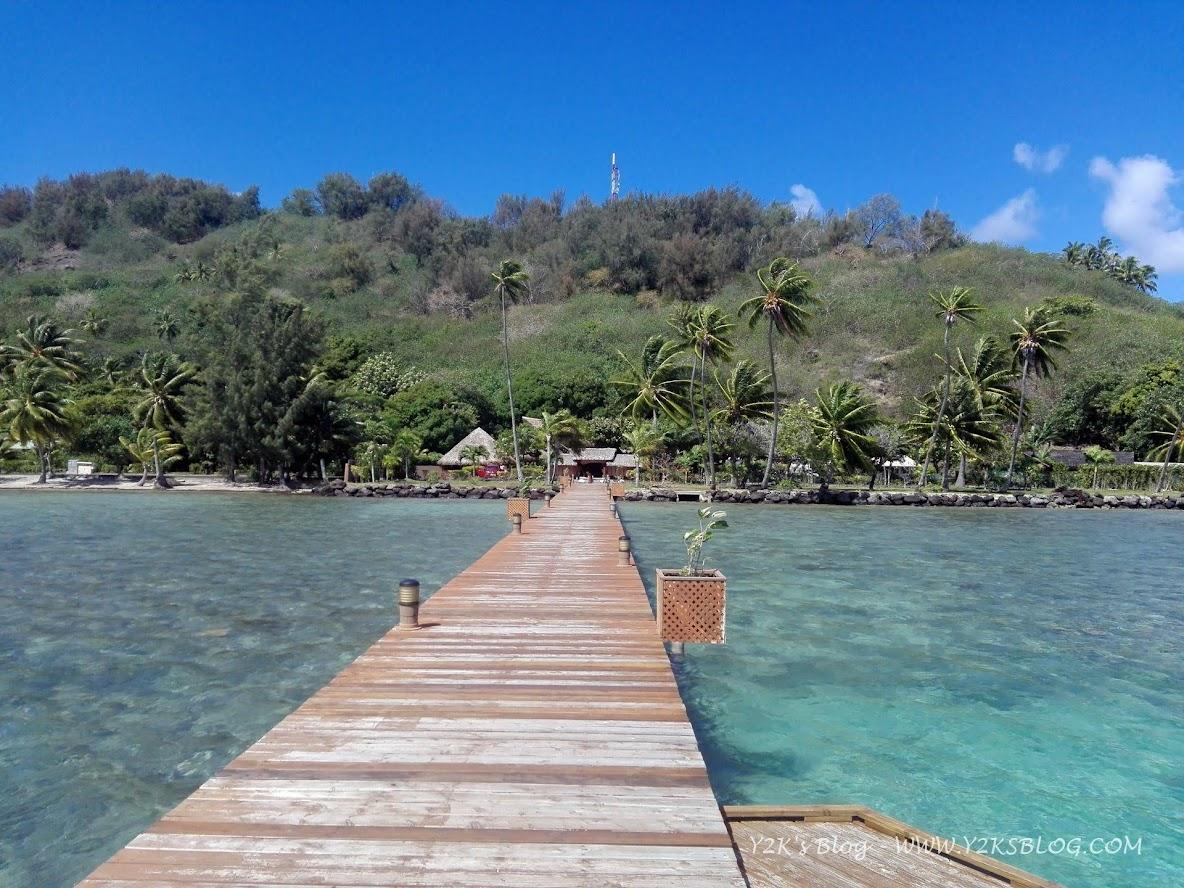 Il lungo pontile che porta al Bloody Mary's - Bora Bora