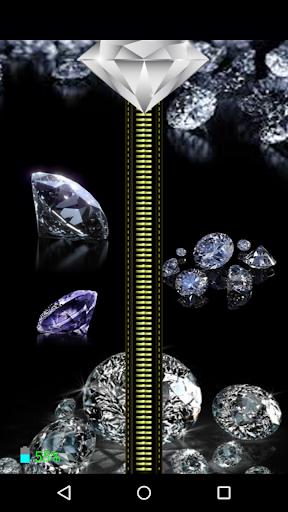 Diamond Zipper Screen Lock