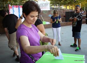 Photo: Elección cartel alternativo fiestas MONZÓN. Iniciando las votaciones.