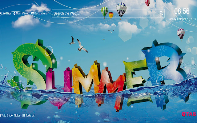 SummerWallpapersNewTabTheme