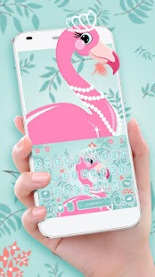 Flamingo Princess Keyboard Theme - náhled