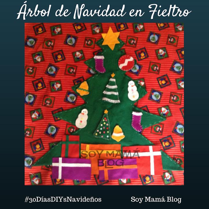 30 días de DIY´s navideños:Día 14, Árbol de Fieltro