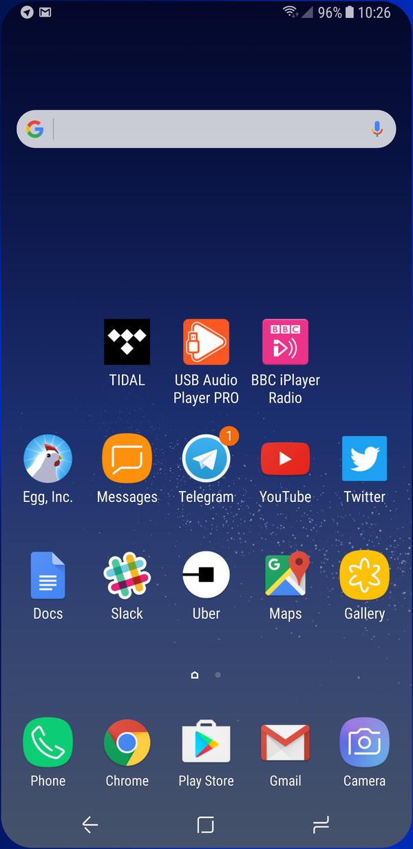 Samsung Galaxy S8 - App Simulator