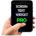 Screen Text Widget Pro icon