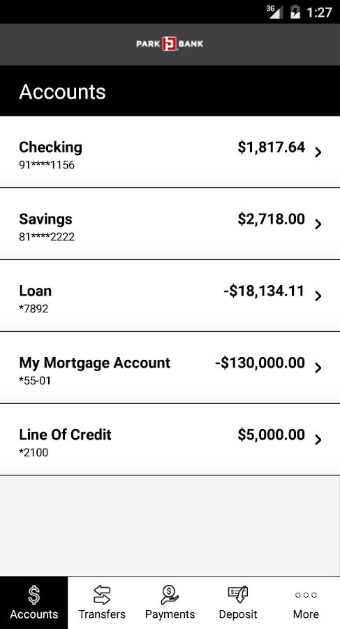 Park Bank Mobile Banking- screenshot