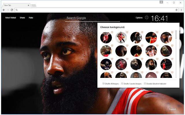 8fcae3d8c81 James Harden Wallpaper HD New Tab NBA Themes