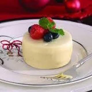 White Chocolate and Ricotta Cheesecake.